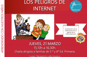 Charla para familias sobre peligros en Internet.