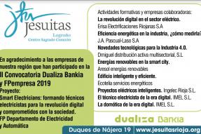 Actividades formativas «Smart Electricians» junto a las empresas colaboradoras de nuestra región.